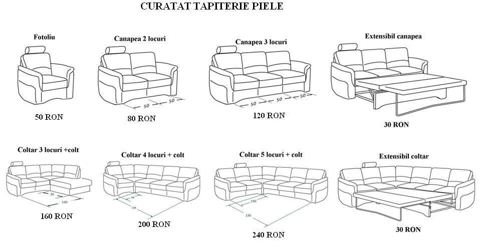 Tarife curatat canapele si fotolii piele